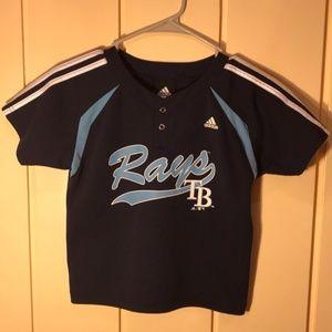 adidas TAMPA BAY RAYS Baseball jersey youth large